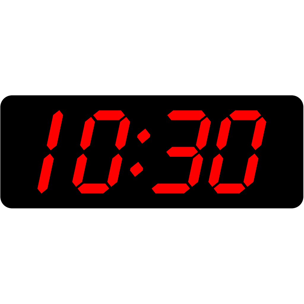 Digital Clock 10:30 SVG Clip arts