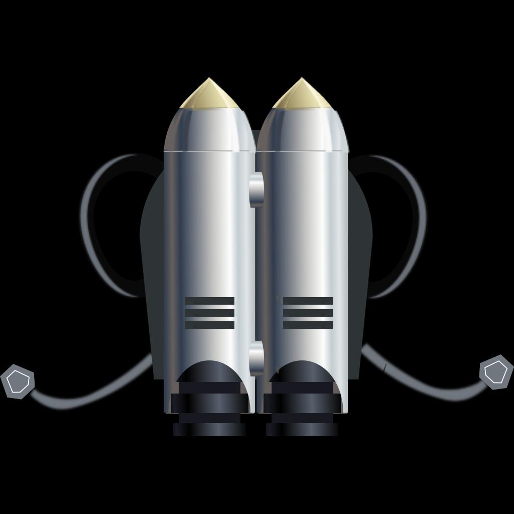 Individual Jet Pack SVG Clip arts