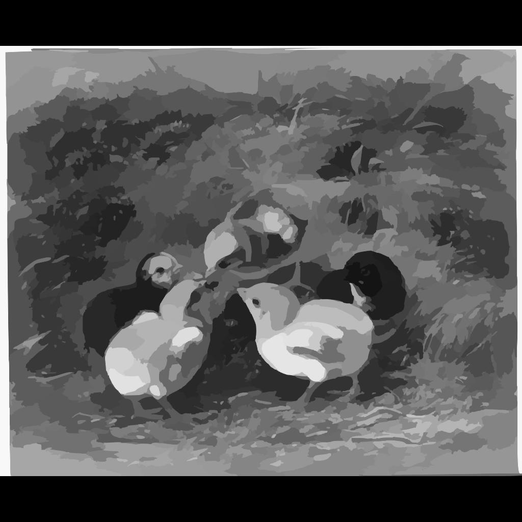 Chickens Vector Coloring SVG Clip arts