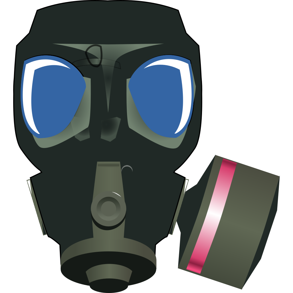 Gas Mask SVG Clip arts