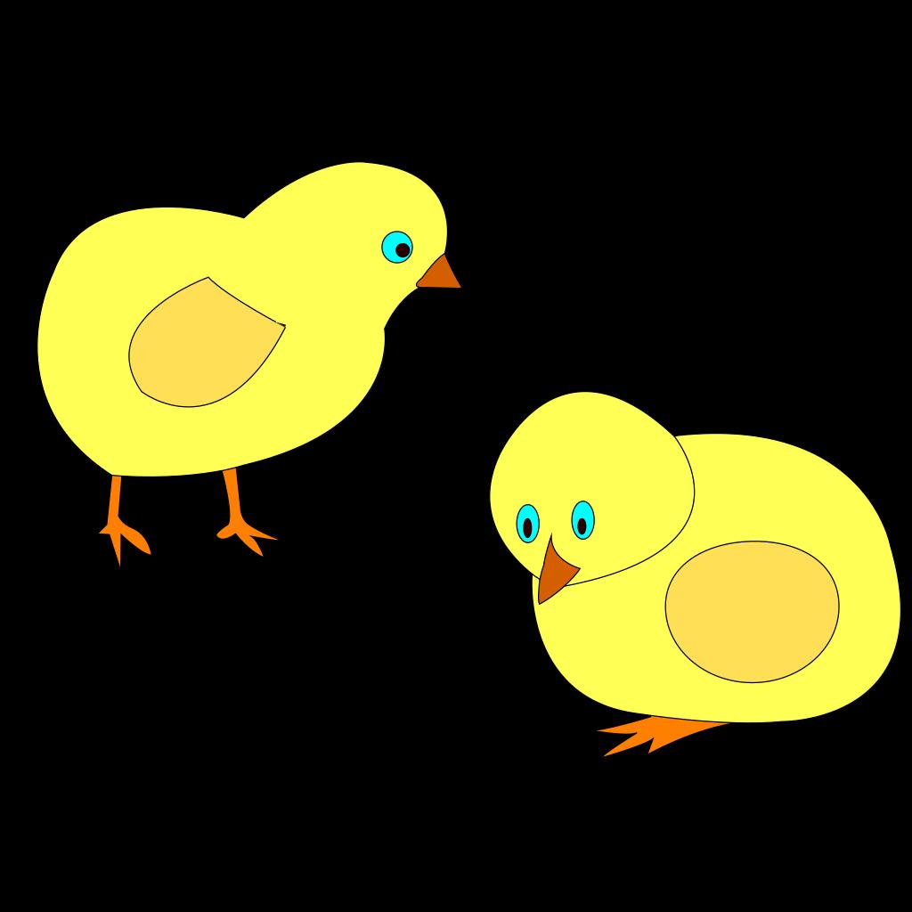 Chickens Figure Color SVG Clip arts