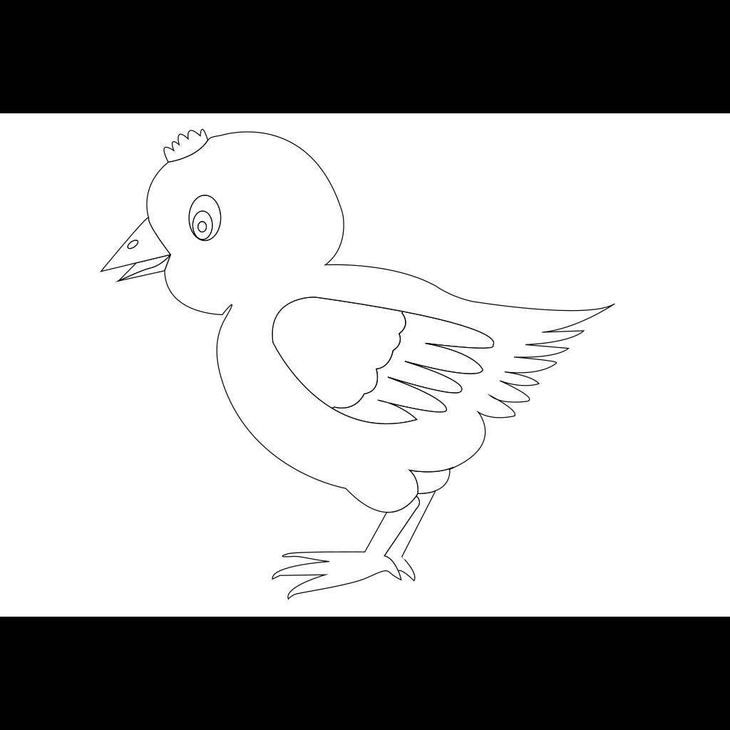Chicken 002 Vector Coloring SVG Clip arts