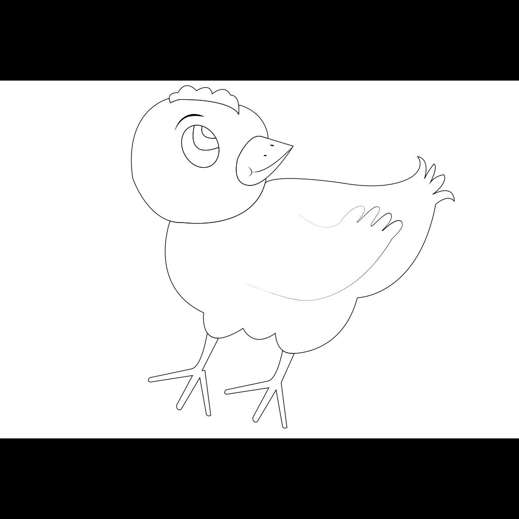 Chicken 001 Vector Coloring SVG Clip arts