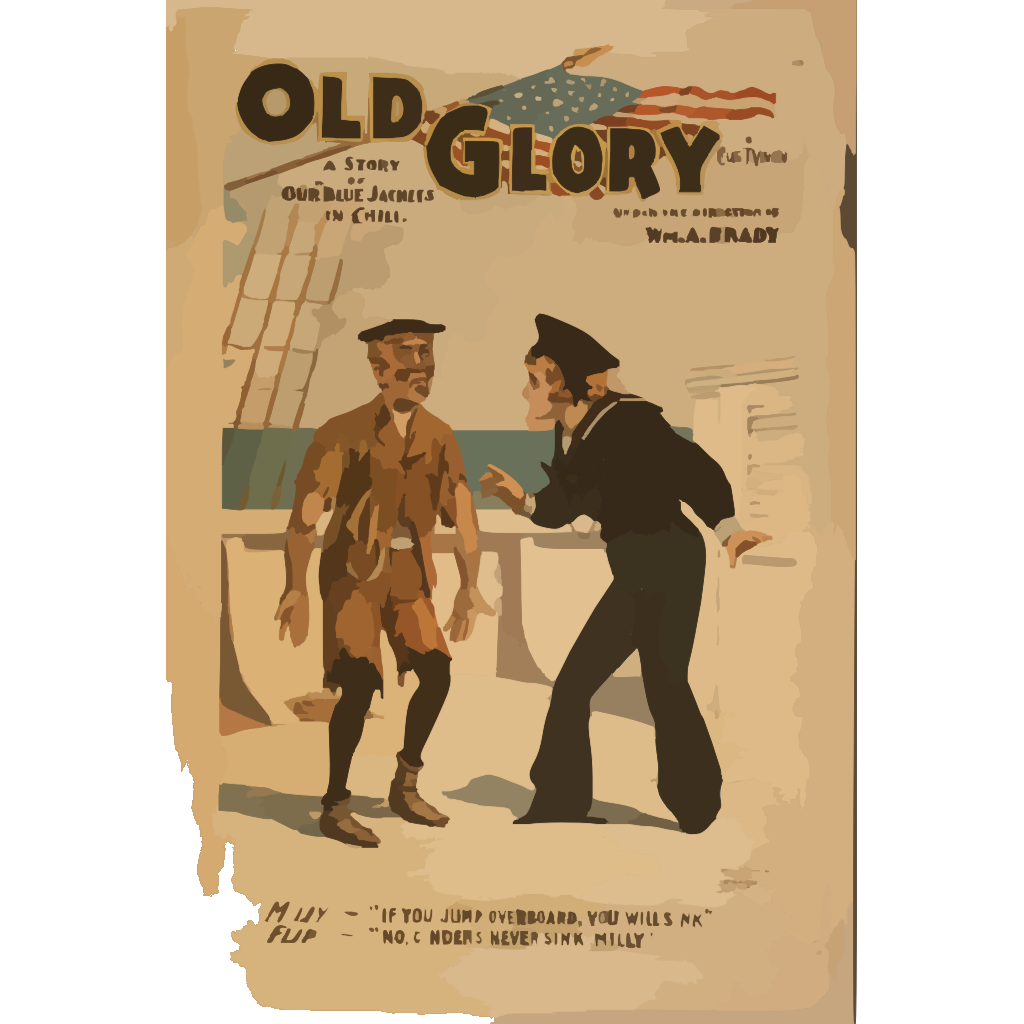 Old Glory A Story Of Our  Blue Jackets  In Chili [i.e. Chile] By Chas. T. Vincent. SVG Clip arts
