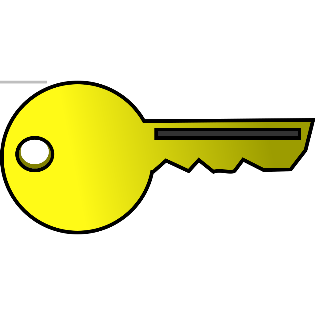 Golden Key SVG Clip arts