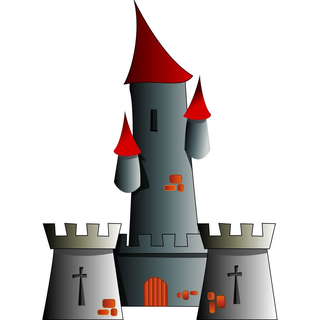 Castle 6 SVG Clip arts