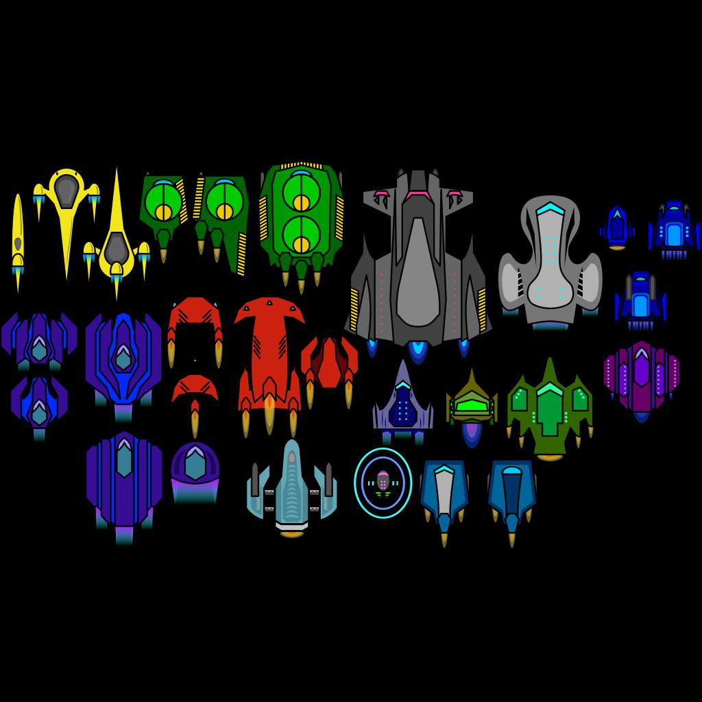 Erulisseuiin Spaceship Pack SVG Clip arts