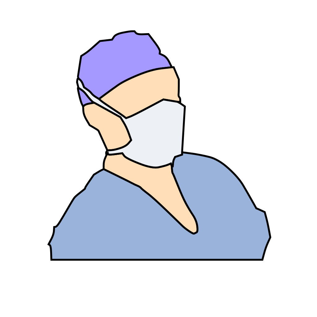 Doctor Wearing Sanitary Mask SVG Clip arts