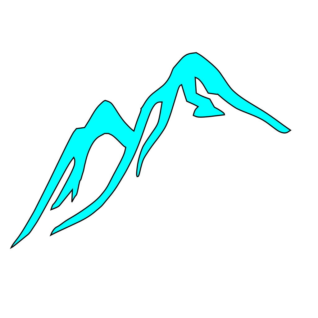 Mountain Tops Covered With Ice SVG Clip arts