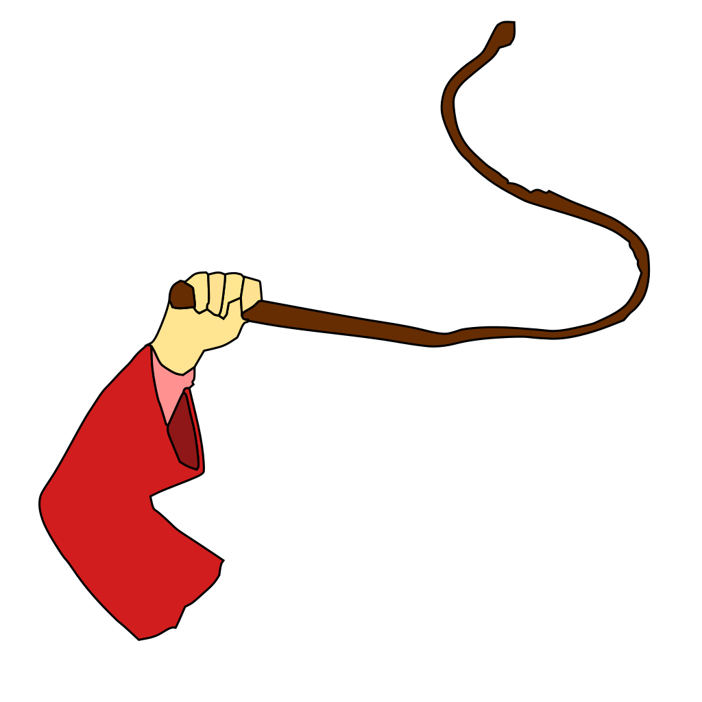 Hand Holding Whip SVG Clip arts