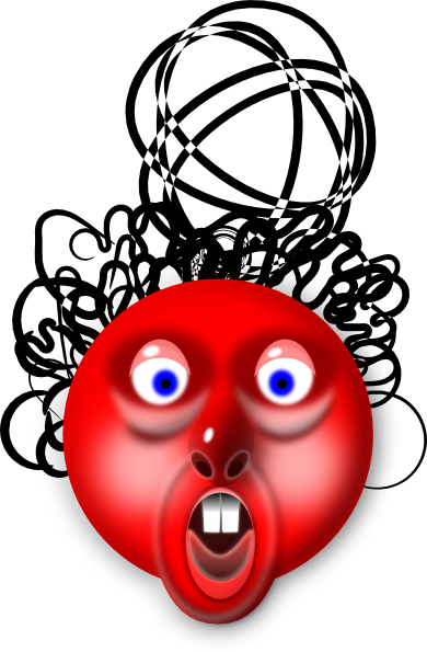 Red Head SVG Clip arts