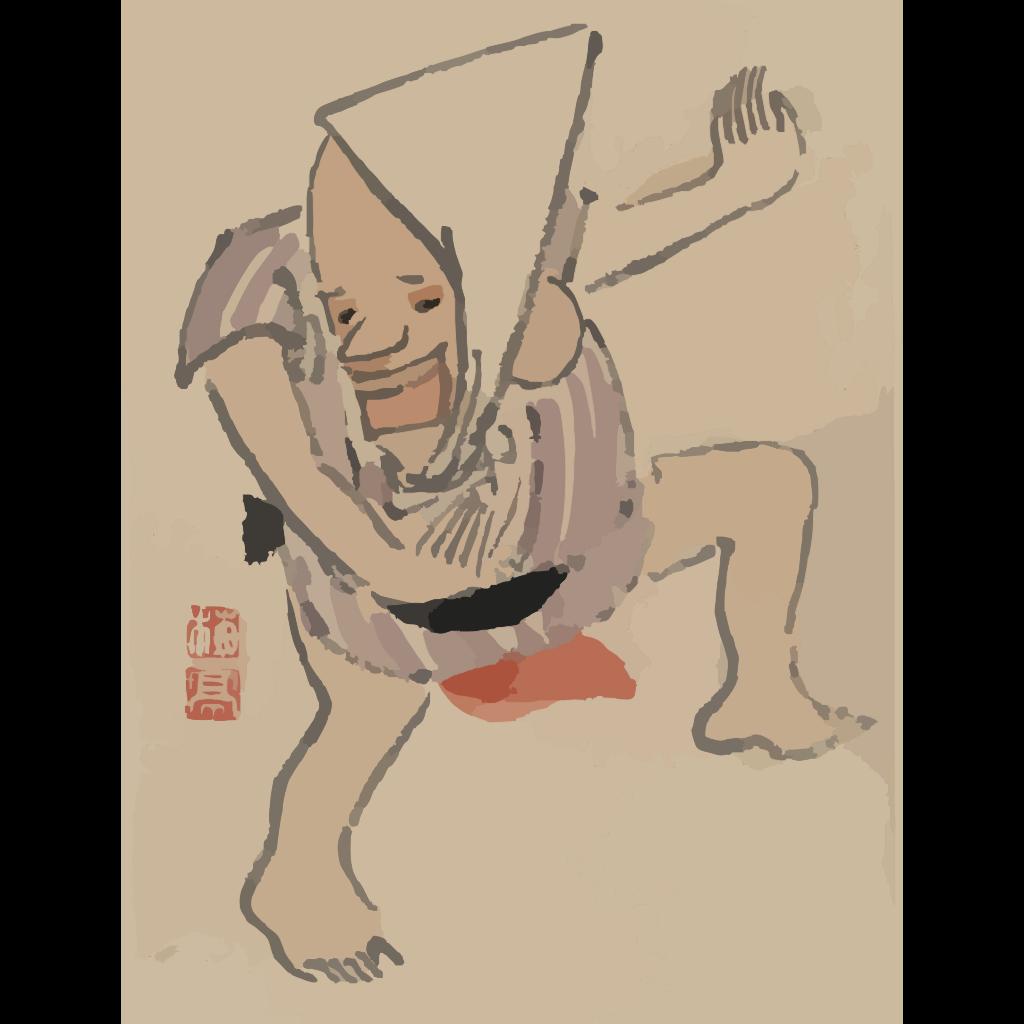Cartoon Of A Clown Dancer SVG Clip arts