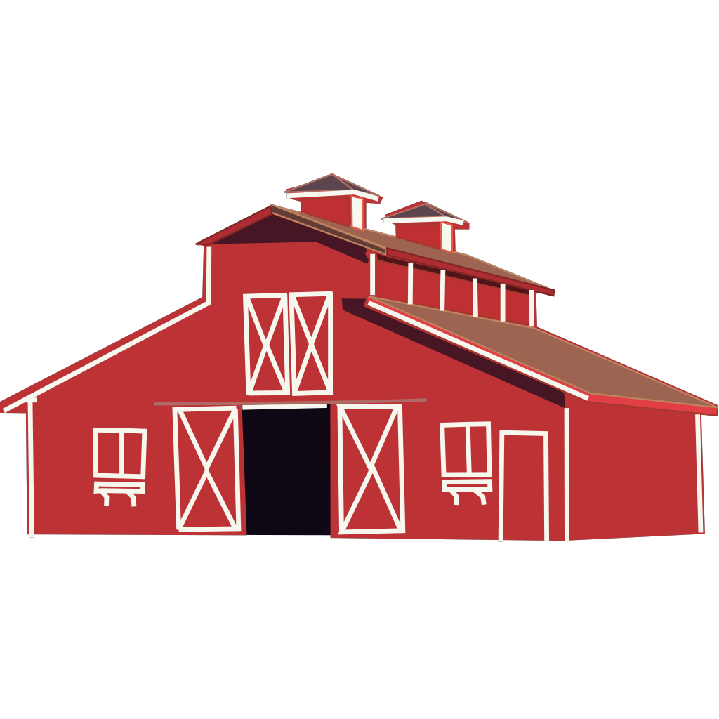 Red Barn SVG Clip arts