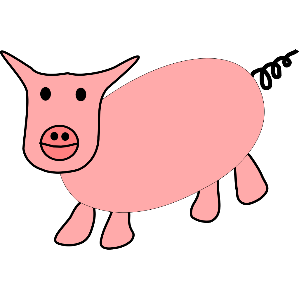 Pig Cartoon SVG Clip arts