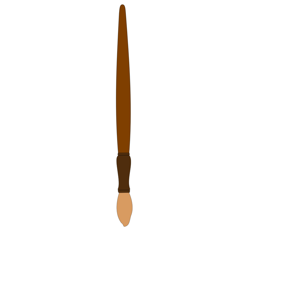 Brush Brown SVG Clip arts