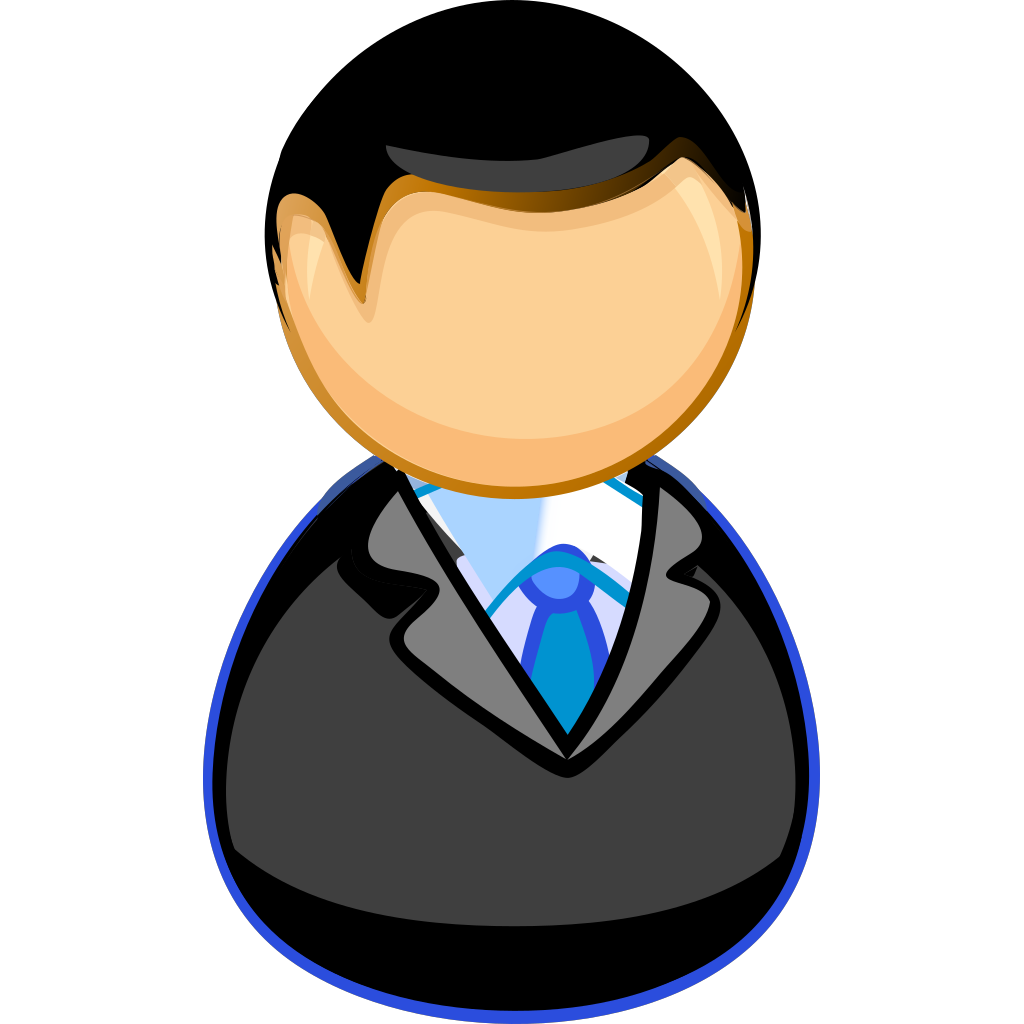 Teacher / Manager Between Chair And Desk SVG Clip arts
