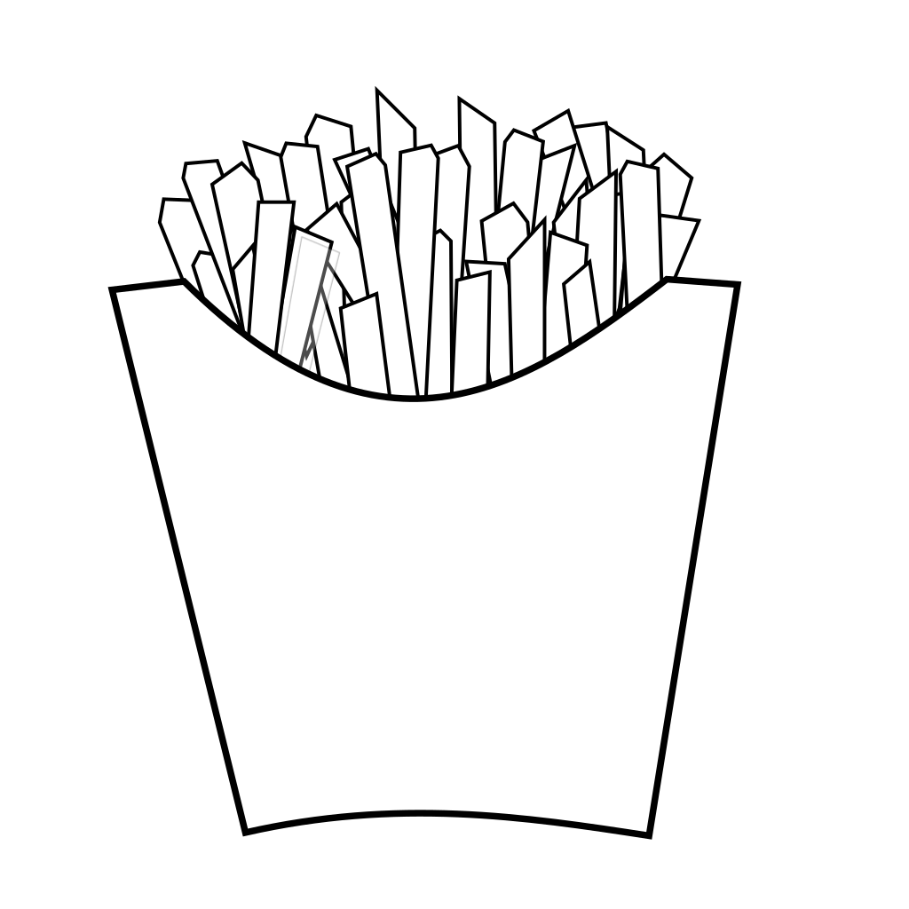 French Fries Line Art SVG Clip arts