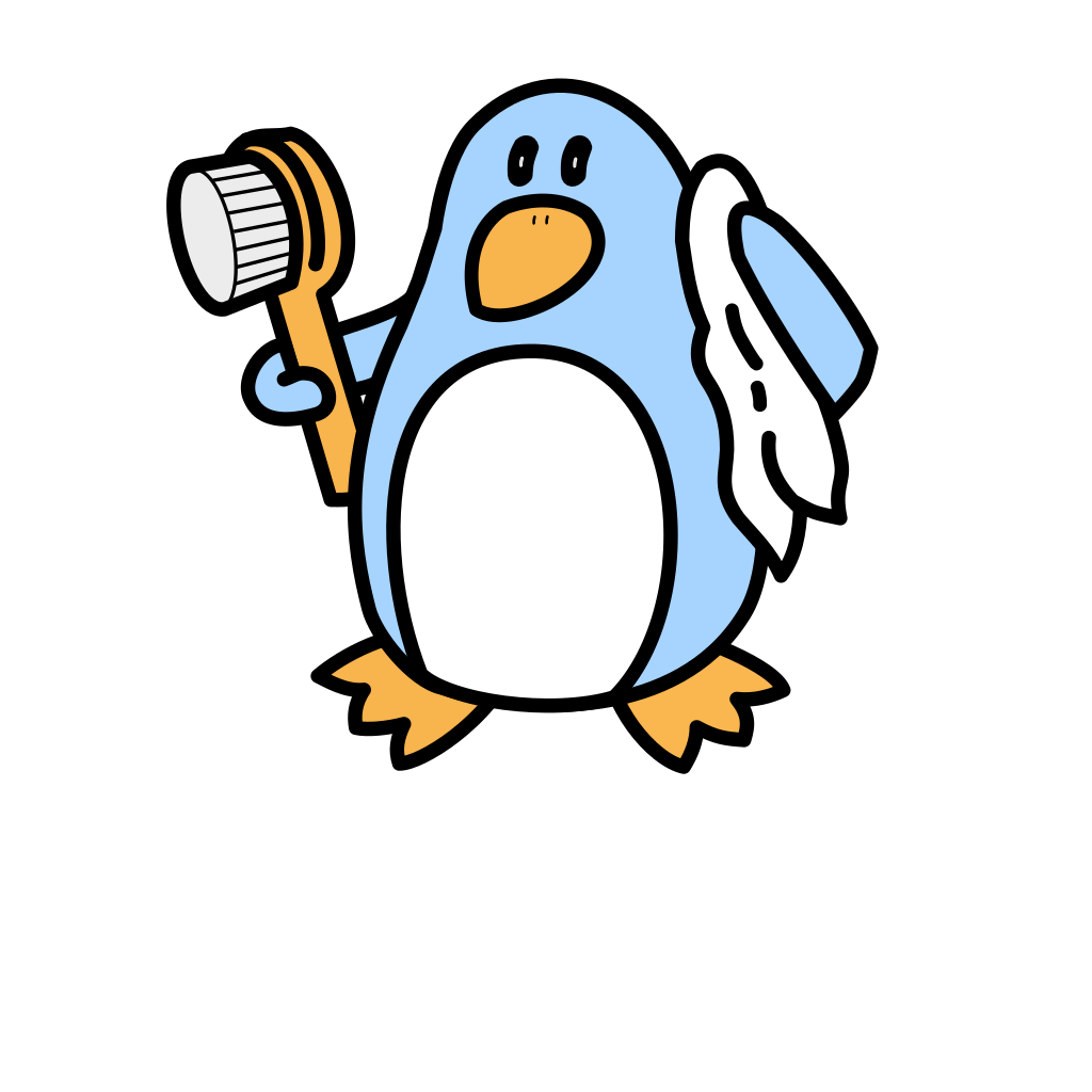 Bathing Penguin SVG Clip arts