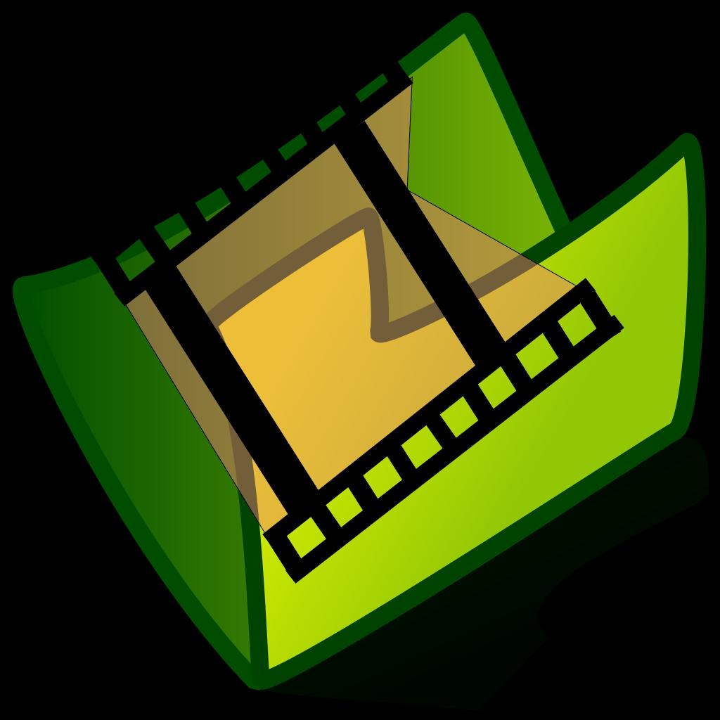 Video Folder SVG Clip arts