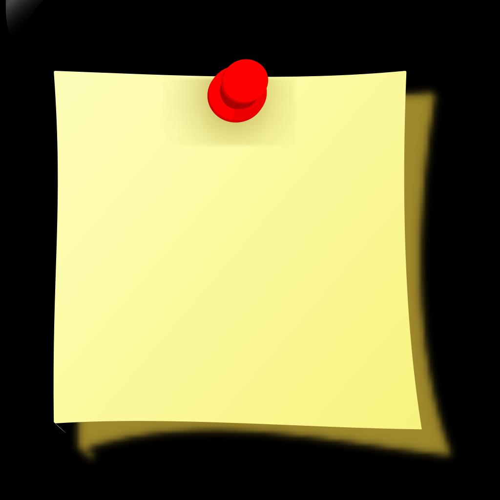 Note Pin SVG Clip arts