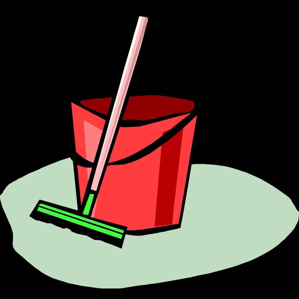 Bucket And Mop SVG Clip arts