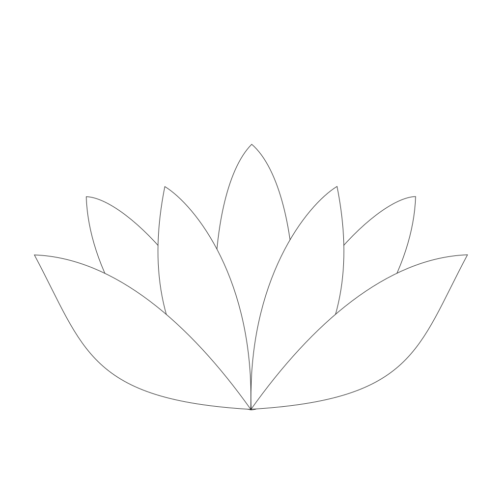 Lotus Flower SVG Clip arts
