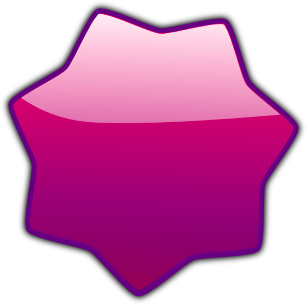 Pink Star SVG Clip arts