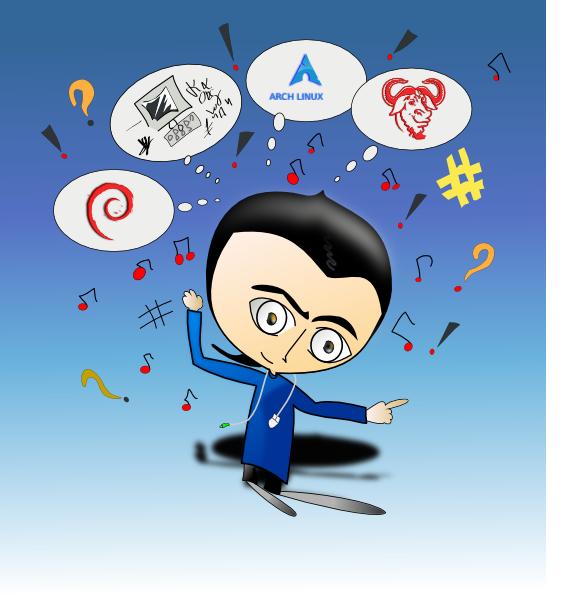 Cartoon Linux Guy SVG Clip arts