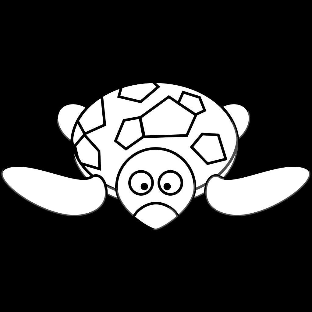 Turtle Outline SVG Clip arts