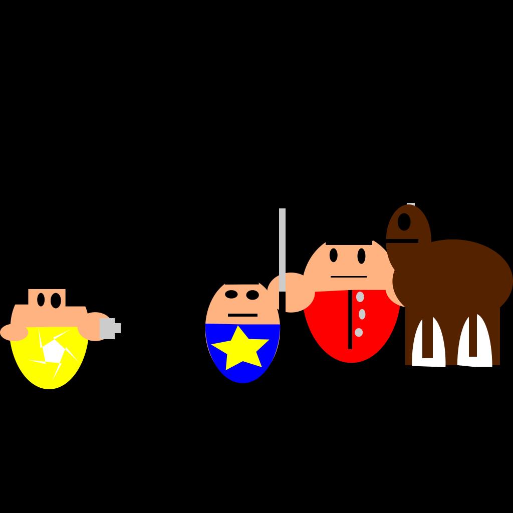 Cartoon Queen Guard SVG Clip arts