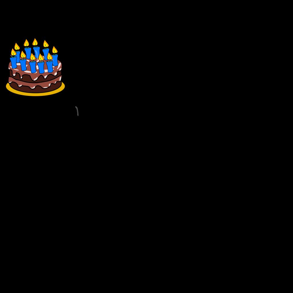10th Birthday Cake SVG Clip arts