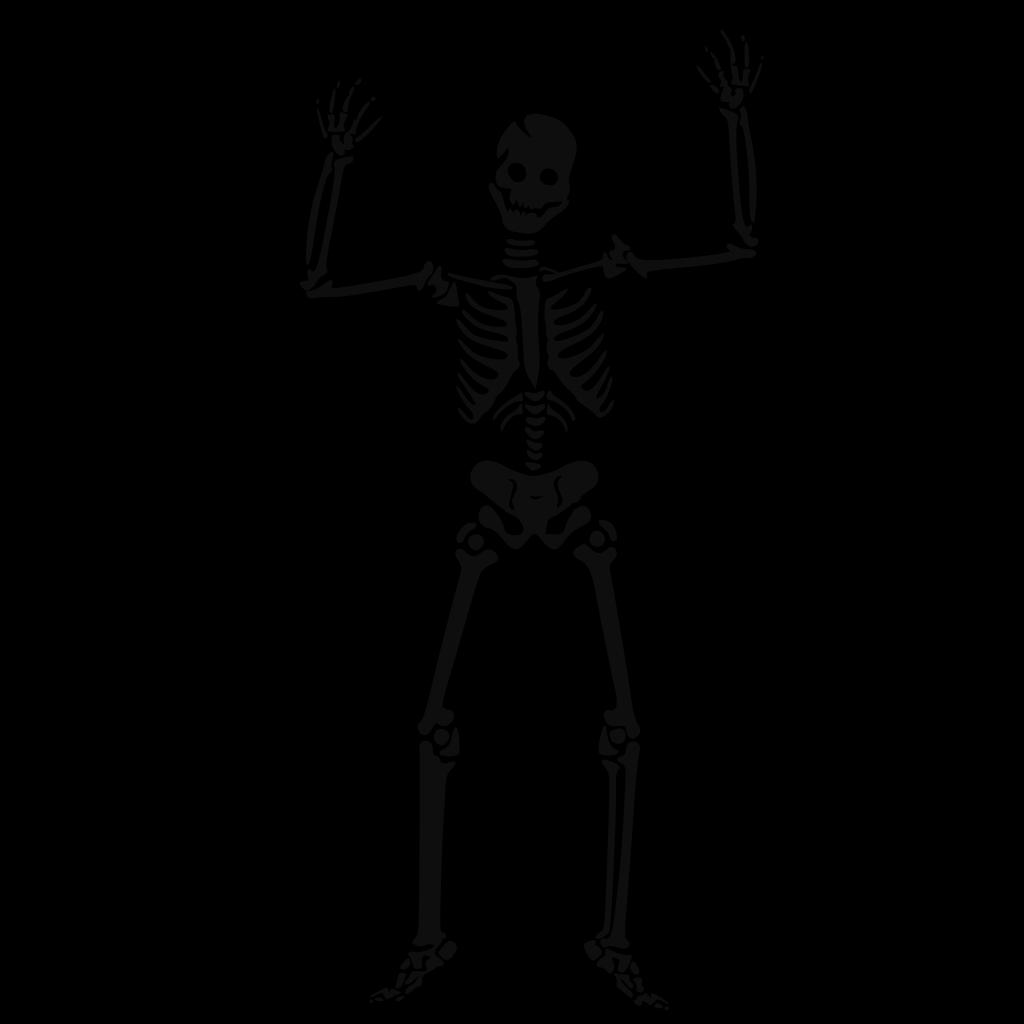 Scary Skeleton SVG Clip arts