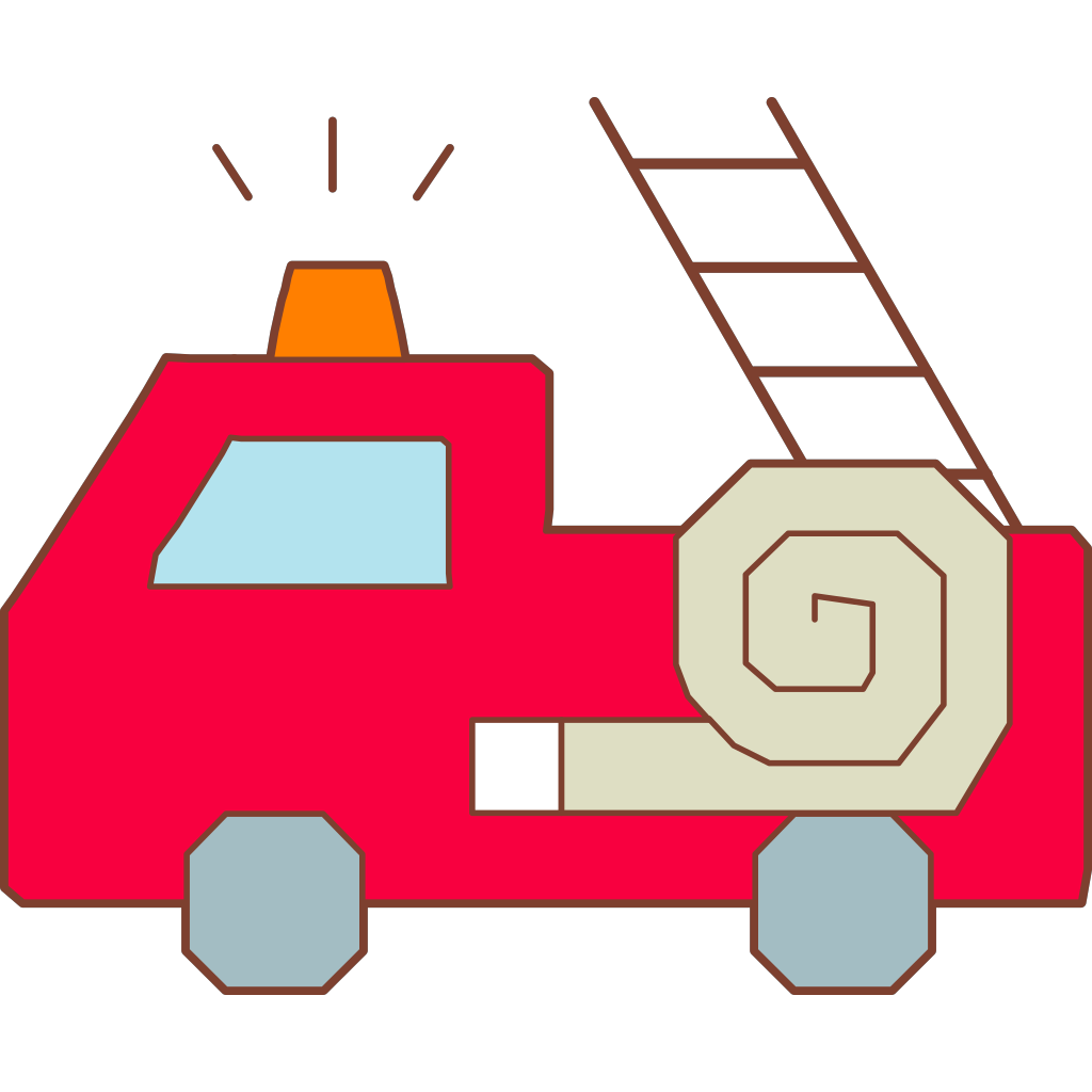Red Fire Truck Hat 4 SVG Clip arts