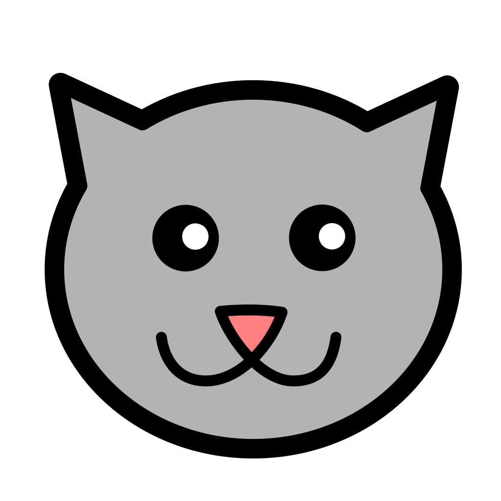 Cartoon Kitty Face SVG Clip arts