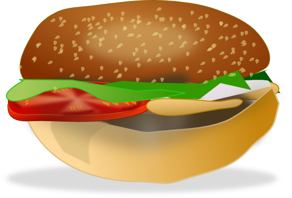 A Burger Sandwich, Fries And A Drink SVG Clip arts