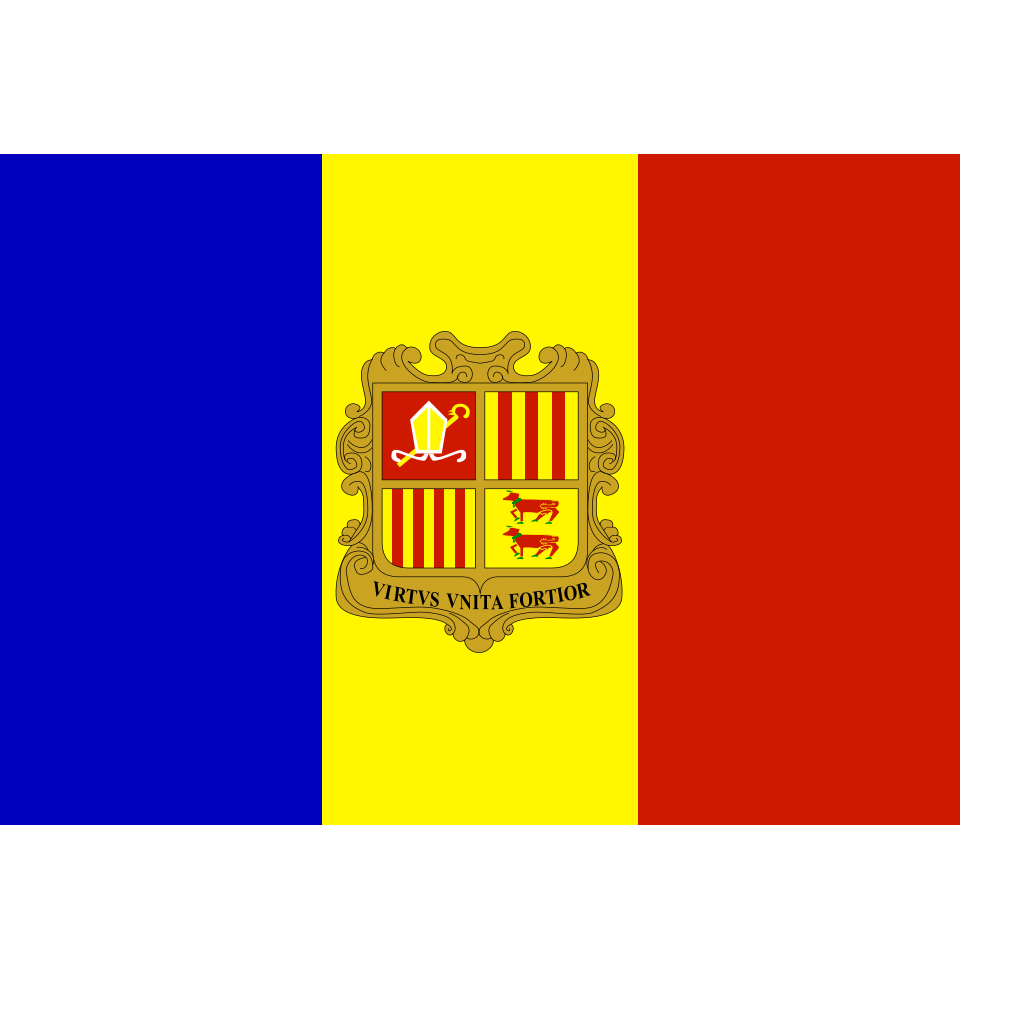 Flag Of Andorra SVG Clip arts