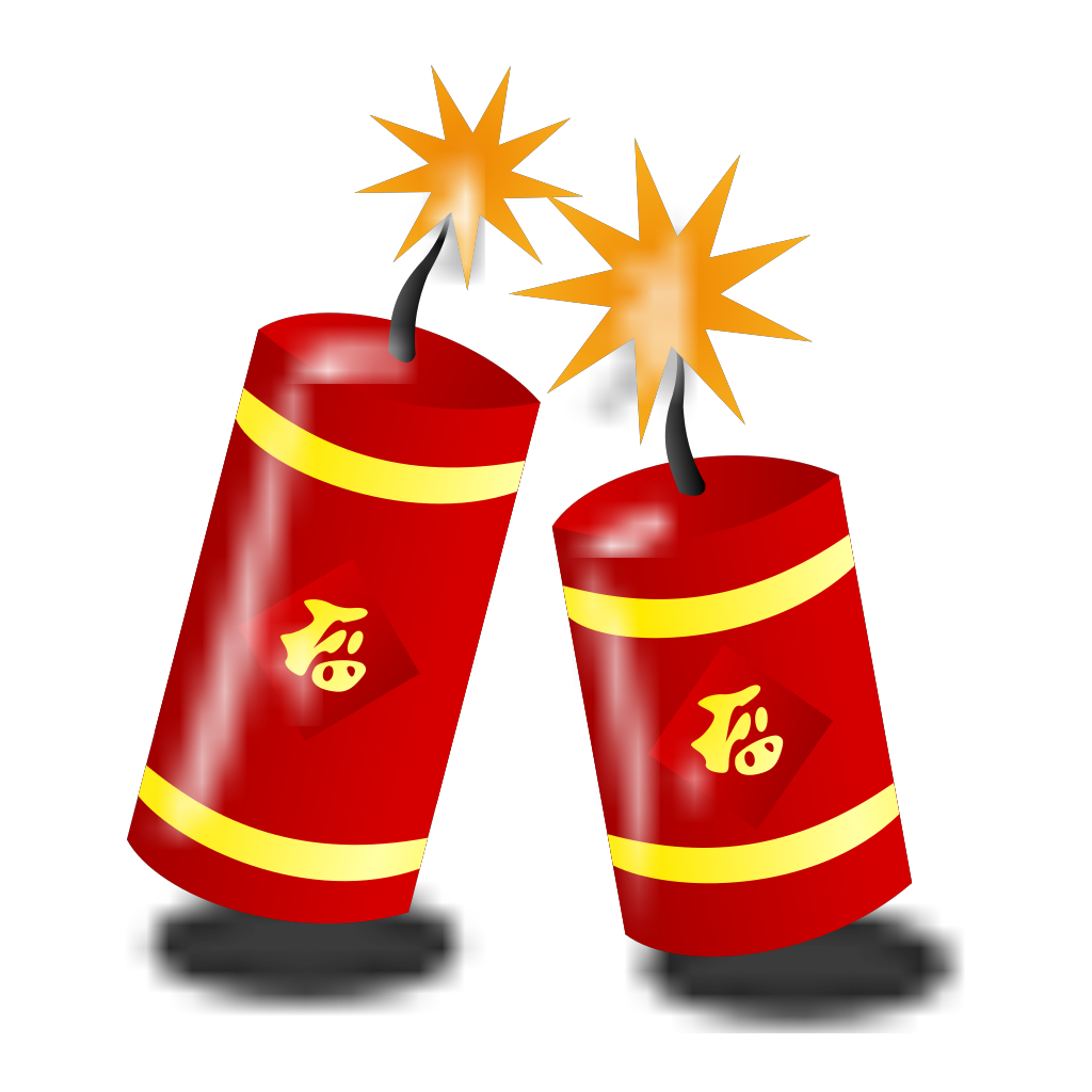 Chinese Fireworks SVG Clip arts