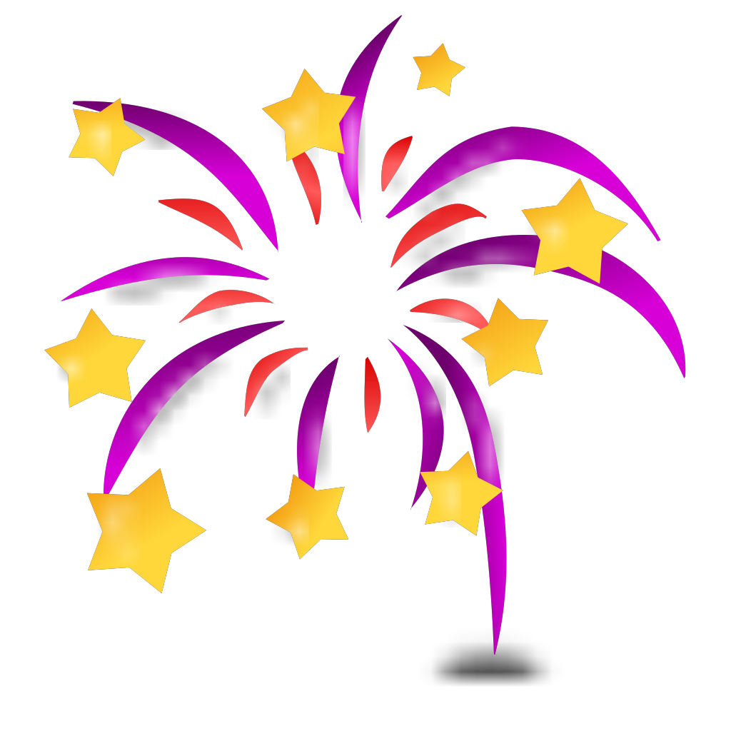 Cartoon Fireworks SVG Clip arts