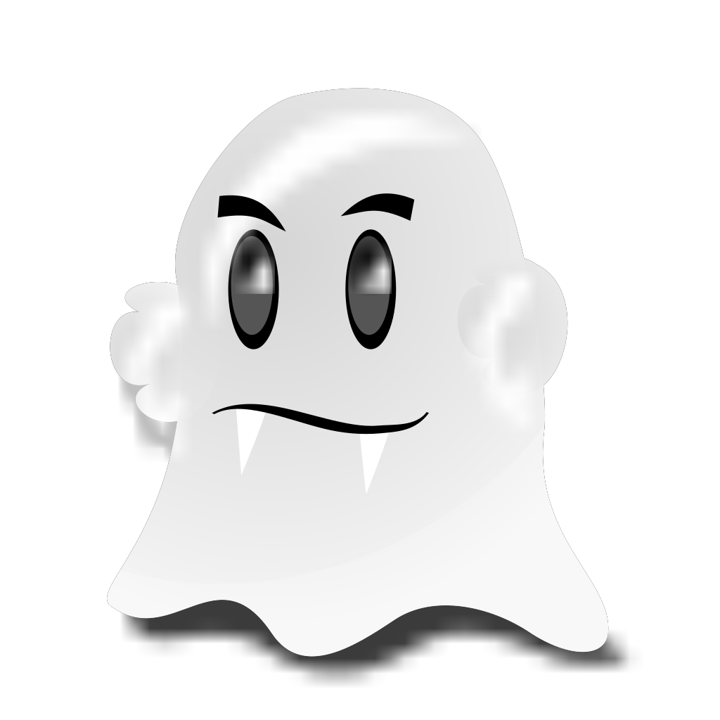 Cartoon Ghost SVG Clip arts