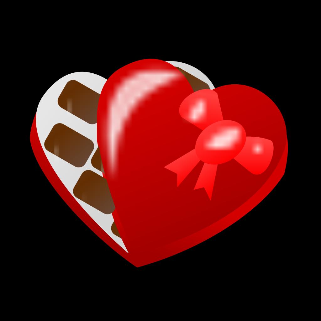 Valentine Chocolate Box SVG Clip arts