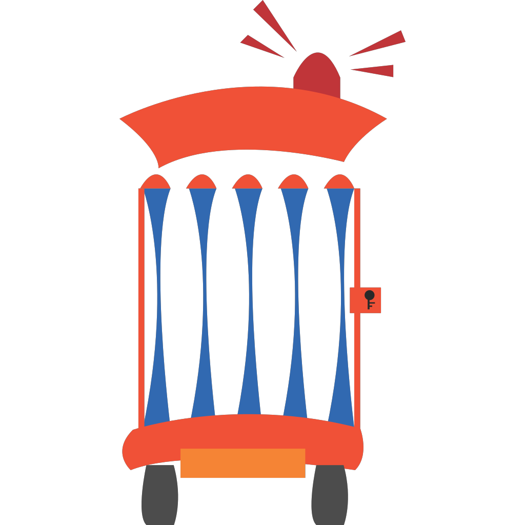 Cartoon Jail Car SVG Clip arts