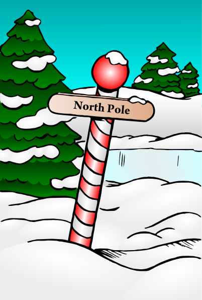 North Pole Sign SVG Clip arts