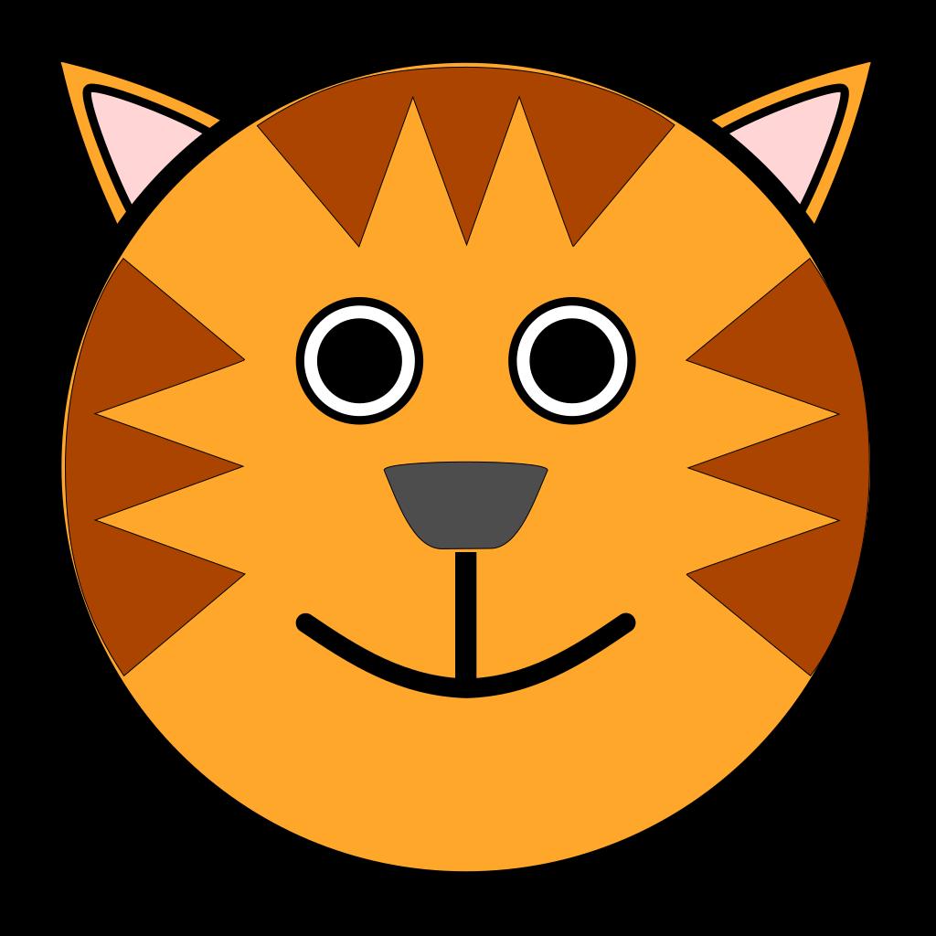 Tiger Face SVG Downloads Animal Download Vector Clip Art Online