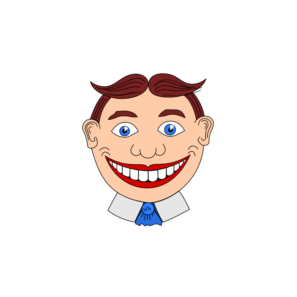 Smiling Man SVG Clip arts