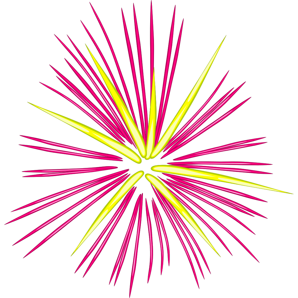 Pink Fireworks SVG Clip arts