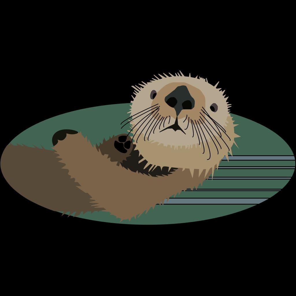 Sea Otter SVG Clip arts