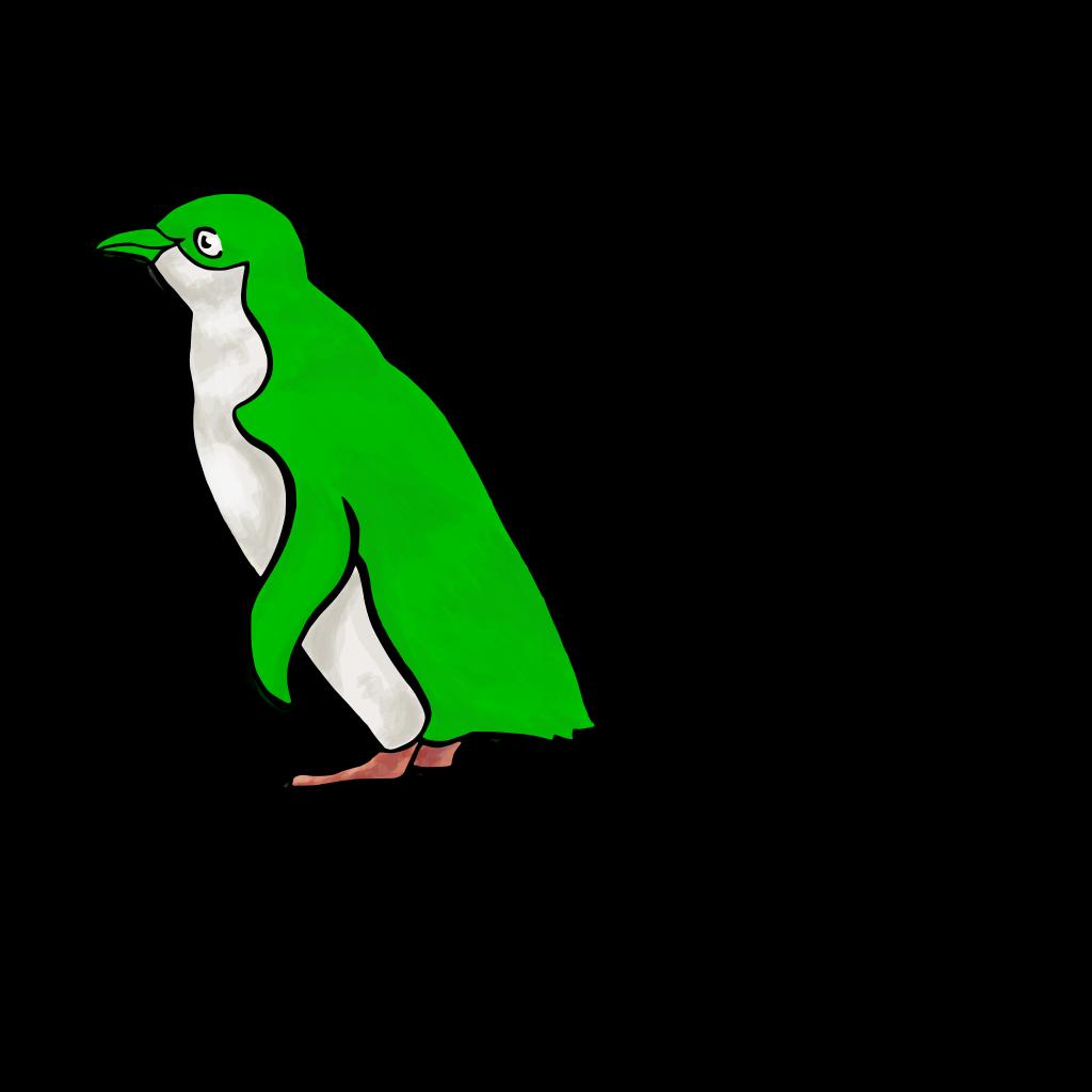 Green Penguin SVG Clip arts