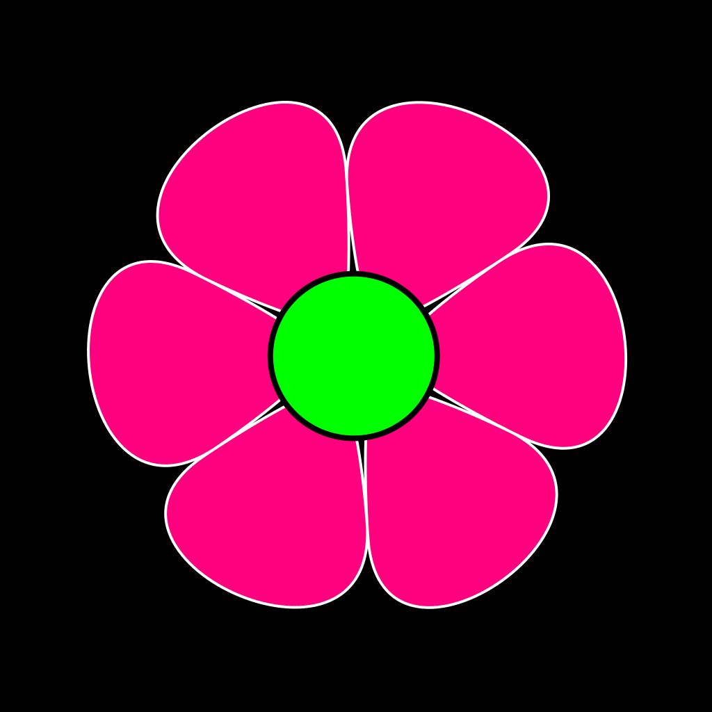 Pink Flower #2 SVG Clip arts