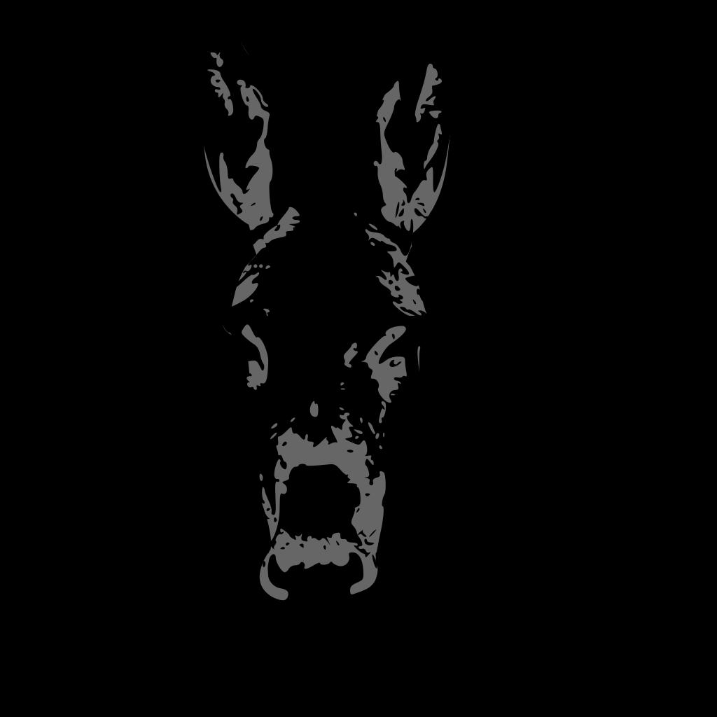 Donkey Head SVG Clip arts