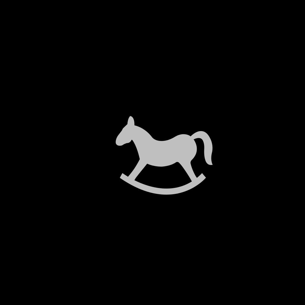 Kids On Rocking Horse SVG Clip arts
